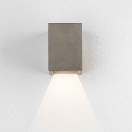 Oslo 120 LED Rectangular Wall Light Concrete Coastal 3.9W 3000K IP65 rated for Down Lighting, Astro 1298019