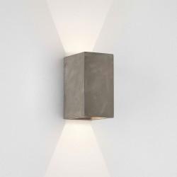 Oslo 160 LED Rectangular Matt Concrete Wall Light 6.1W 3000K IP65 for Wall Down Lighting, Astro 1298020