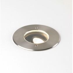 Cromarty 100 Adjustable Ground LED Light in Brushed Stainless Steel IP67 8.6W 3000K Coastal LED Light, Astro 1378002