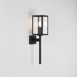 Coach 100 Textured Black Wall Light IP44 with Clear Glass E14 max. 60W, Traditional Style Astro 1369003