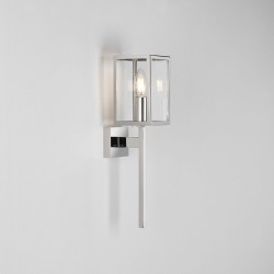Coach 100 Polished Nickel Wall Light IP44 with Clear Glass E14 max. 60W, Traditional Style Astro 1369004