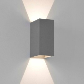 Oslo 160 LED Up-Down Wall Light in Textured Grey IP65 2 x 3W 3000K for Exterior Lighting, Astro 1298021