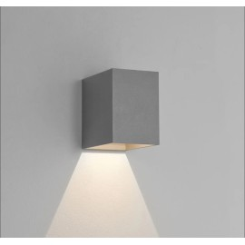 Oslo 100 LED Wall Light in Textured Grey IP65 3.8W 3000K for Exterior Lighting, Astro 1298022