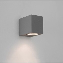 Chios 80 Textured Grey Wall Light GU10 LED max. 6W Dimmable IP44, 1000h Salt Spray Tested, Astro 1310007