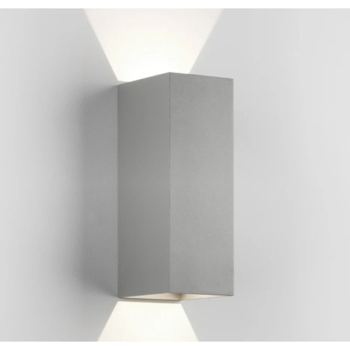Oslo 255 LED Up-Down Wall Light in Textured Grey IP65 7.9W 3000K for Exterior Lighting, Astro 1298023