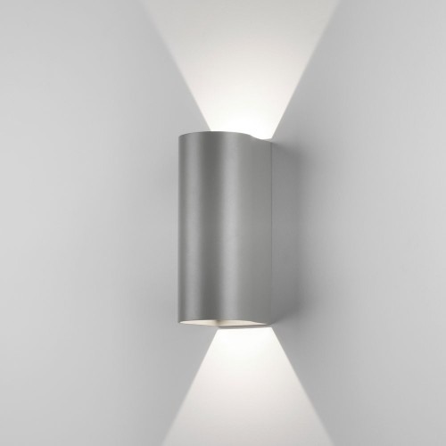 Dunbar 255 LED Textured Grey Wall Light 7.9W 3000K IP65 for Wall Up-Down Lighting, Astro 1384021