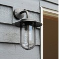 Montparnasse Outdoor Wall Light in Bronze with Clear Shade IP44 using 1 x 12W LED ES/E27 Astro 1096009