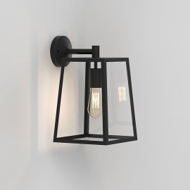 Calvi 305 Wall Lantern in Textured Black with Clear Glass Diffuser for Outdoor Lighting IP23 E27 Astro 1306011
