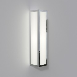 Salerno LED Polished Nickel Outdoor Wall Light with White Opal Diffuser IP44 3000K 9W, Astro 1178003