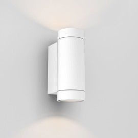 Dartmouth Twin Wall Lamp in Textured White IP54 2 x GU10 max. 6W Outdoor Light Astro 1372012