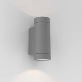 Dartmouth Twin Wall Lamp in Textured Grey IP54 2 x GU10 max. 6W Outdoor Light Astro 1372013
