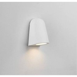 Mast Wall Light in Textured White IP65 Rated using 1 x 6W max LED GU10 for Outdoor Wall Lighting, Astro 1317012