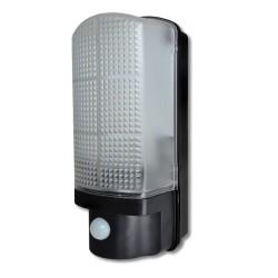7W 500lm 3100K LED Bulkhead with 120deg PIR, IP44 Wall LED Lamp with 8m PIR range