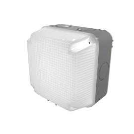 IP65 Grey Square LED Bulkhead 4.5W 4000K 230V/110V for Indoor/Outdoor Lighting Luceco LBS1G4