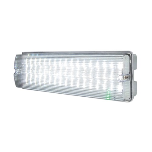 IP65 6W 3h Maintained LED Emergency Bulkhead for Exterior Lighting, 6500K Daylight 400lm LED