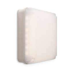 11W Mosi Square LED Bulkhead in White 4000K 1150lm IP65 280 x 280mm for Outdoor Wall Lighting