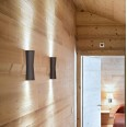 Flos Clessidra Brown Up-and-Down LED Wall Light 20degs Beam 10W 3000K IP55 by Antonio Citterio