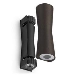 Flos Clessidra Dark Brown Up-and-Down LED Wall Light 40degs Beam 10W 3000K IP55 by Antonio Citterio