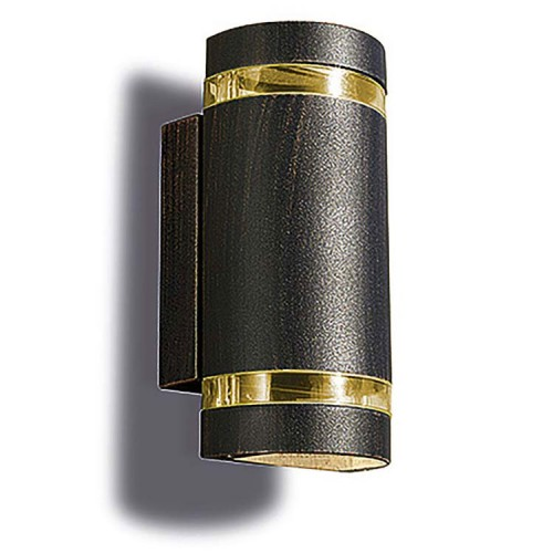 Selene Brown Up-and-Down Wall Light using 2 GU10 Lamps, IP54 Outdoor Wall Lamp LEDS-C4 05-9234-18-37