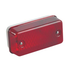 IP65 Rectangular Bulkhead B22 max. 100W with Red Polycarbonate Diffuser and Aluminium Base