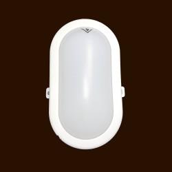 IP54 Mini Oval White LED Bulkhead 5.5W 450lm 4000K Neutral White for Exterior Lighting