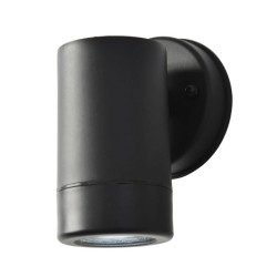 Up or Down Single Wall Spotlight IP44 in Black Plastic using GU10 LED for Outdoor Lighting