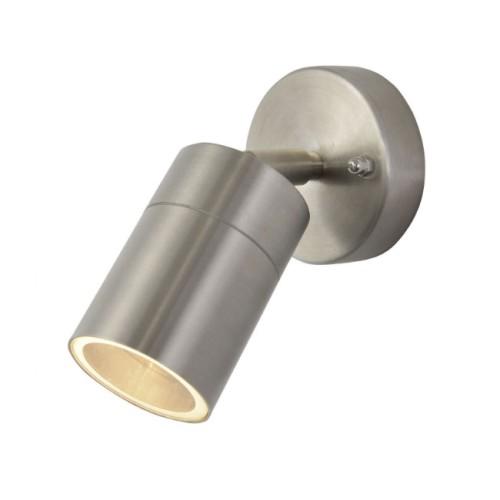 IP44 Adjustable Single Wall Spotlight in White for Exterior Lighting GU10 LED Lamp