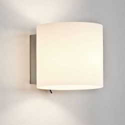 Luga White Glass Wall Up-Down Light Switched 1 x 7W max. LED Golf Ball E14/SES IP20 rated, Astro Lighting 1074001