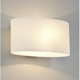 Tokyo White Glass Wall Light IP20 using 1 x 7W max. LED Golf Ball E14/SES, Astro 1089001