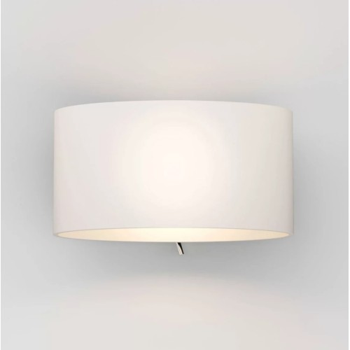 Tokyo Switched White Glass Wall Light IP20 using 1 x 7W max. LED Golf Ball E14/SES, Astro 1089002