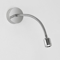 Fosso Surface LED Light in Polished Chrome 2.5W 3000K IP20 Flexible Neck LED Spot, Astro 1138002
