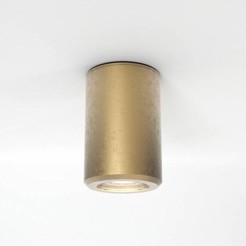 Jura Surface Coastal Brass Ceiling Spotlight using 1 x 6W max. LED GU10 Lamp IP44 Dimmable, Astro 1375003