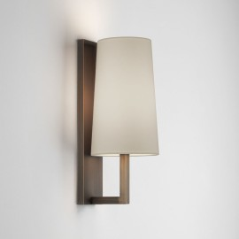 Riva 350 Bronze Bathroom Wall Lamp (shade not included) IP44 rated 1 x 12W max. LED E27/ES, Astro 1214010
