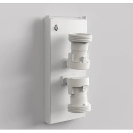 Backplate 1 Gloss White for Wall Mounting taking 2 x 12W Max. LED E27/ES IP20 Dimmable (no shade), Astro Lighting 1367001