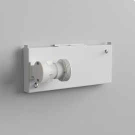 Backplate 2 Gloss White for Wall Mounting taking 1 x 12W Max. LED E27/ES IP20 Dimmable (no shade), Astro Lighting 1367002