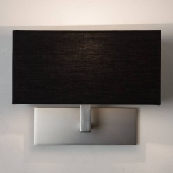 Park Lane Wall Lamp in Matt Nickel with White Rectangular Shade IP20 1 x 7W LED Golf Ball E14/SES, Astro 1080022