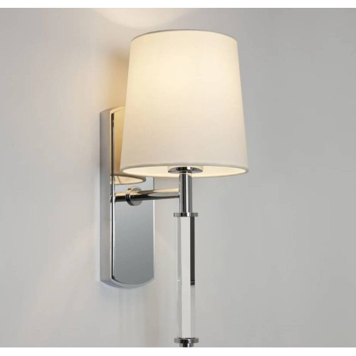 Delphi Single Wall Light in Polished Chrome (no Shade) using 1 x 12W Max. LED E27/ES IP20 rated, Astro 1313002