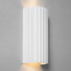 Kymi 300 Plaster Wall Light (Paintable) Ridged Semi-Cylindrical Fitting IP20 2 x GU10 lamps, Astro 1335003