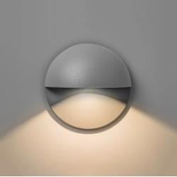 Tivola LED Round Eyelid 2W 3000K IP65 in Textured Grey for Exterior Lighting 80mm Diameter, Astro 1338009