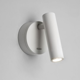 Enna Surface LED Switched Wall Light in Matt White using Adjustable Head 4.5W 2700K LED, Astro 1058015