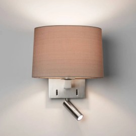 Azumi Reader LED Wall Light Matt Nickel Switched IP20 E27/ES 12W LED and 1.7W LED 2700K spot (shade not included) Astro 1142034