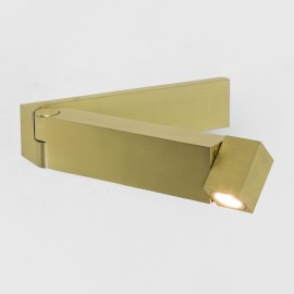 Tosca LED Swing Arm Wall Light in Matt Gold 2.2W 2700K 61lm Switched IP20 rated Astro 1157007