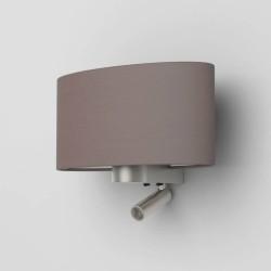 Napoli Reader LED Matt Nickel Wall Lamp using 1 x 12W max. LED E27/ES and 4.1W Reader LED Spot Switched (no shade), Astro 1185003