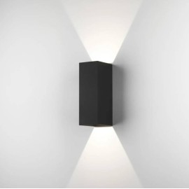 Oslo 255 LED Up-Down Wall Light in Textured Black IP65 7.5W 3000K for Exterior Lighting, Astro 1298007