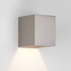 Kinzo 110 Matt Nickel Wall LED Lamp for Down-lighting 5.9W 2700K IP20 rated Dimmable Astro 1398003