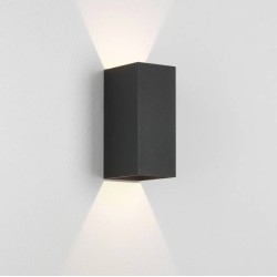 Kinzo 210 Textured Black Wall LED Lamp for Up/Down Lighting 11.6W 2700K IP20 rated Dimmable Astro 1398005