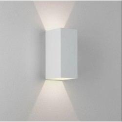 Kinzo 210 Textured White Wall LED Lamp for Up/Down Lighting 11.6W 2700K IP20 rated Dimmable Astro 1398006