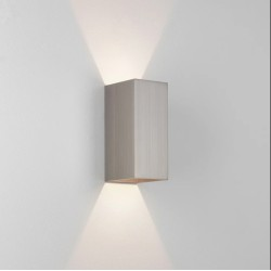 Kinzo 210 Matt Nickel Wall LED Lamp for Up/Down Lighting 11.6W 2700K IP20 rated Dimmable Astro 1398007