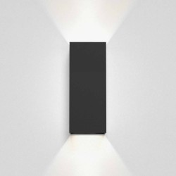 Kinzo 260 Textured Black Wall LED Lamp for Up/Down Lighting 15.1W 2700K IP20 rated Dimmable Astro 1398013