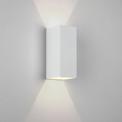 Kinzo 260 Textured White Wall LED Lamp for Up/Down Lighting 15.1W 2700K IP20 rated Dimmable Astro 1398014